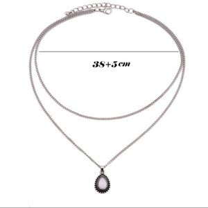 Jewelry - 3/$30 Water Drop Shape Layered Pendant Necklace